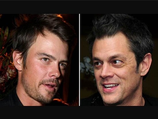 Josh Duhamel and Johnny Knoxville