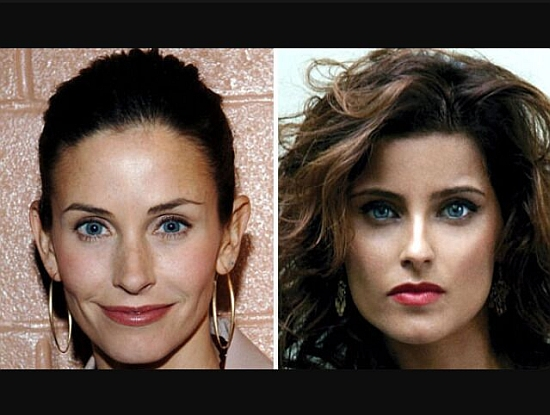 Courteney Cox Arquette and singer Nelly Furtado