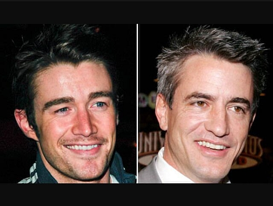 Robert Buckley and Dermot Mulrony