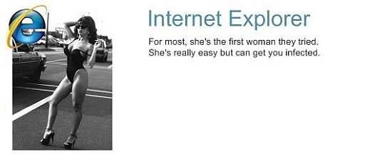 If browsers were women - Explorer