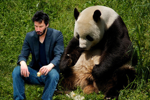 Keanu goes to China, and is still sad