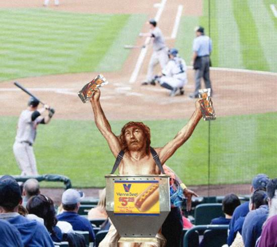 Jesus doing everyday things